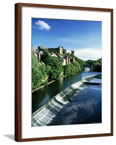 Durham Centre and River Wear, Durham, County Durham, England, United Kingdom-Neale Clarke-Framed Art Print