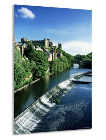 Durham Centre and River Wear, Durham, County Durham, England, United Kingdom-Neale Clarke-Metal Print