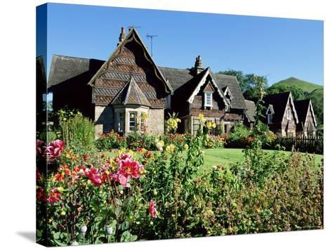Traditional Houses, Ilam, Derbyshire, Peak District National Park, England, United Kingdom-Neale Clarke-Stretched Canvas Print