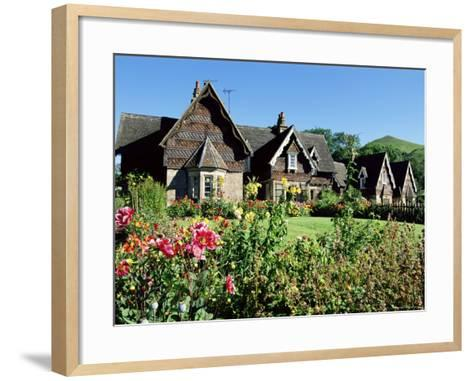 Traditional Houses, Ilam, Derbyshire, Peak District National Park, England, United Kingdom-Neale Clarke-Framed Art Print
