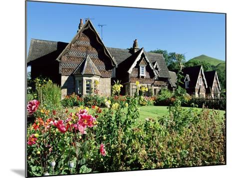 Traditional Houses, Ilam, Derbyshire, Peak District National Park, England, United Kingdom-Neale Clarke-Mounted Photographic Print