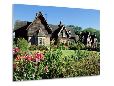 Traditional Houses, Ilam, Derbyshire, Peak District National Park, England, United Kingdom-Neale Clarke-Metal Print