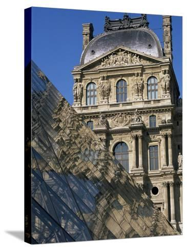 La Pyramide and Musee Du Louvre, Paris, France-Neale Clarke-Stretched Canvas Print
