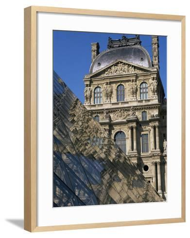 La Pyramide and Musee Du Louvre, Paris, France-Neale Clarke-Framed Art Print