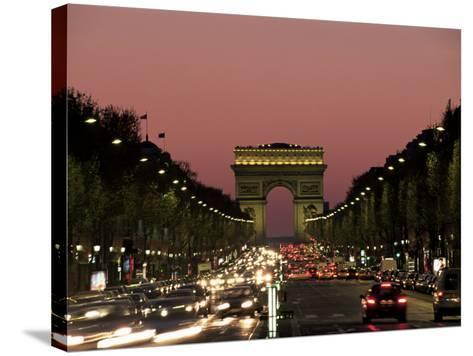 Avenue Des Champs Elysees and the Arc De Triomphe, Paris, France-Neale Clarke-Stretched Canvas Print