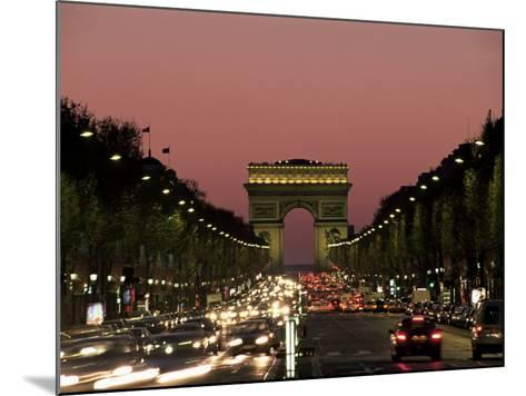 Avenue Des Champs Elysees and the Arc De Triomphe, Paris, France-Neale Clarke-Mounted Photographic Print