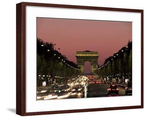 Avenue Des Champs Elysees and the Arc De Triomphe, Paris, France-Neale Clarke-Framed Art Print