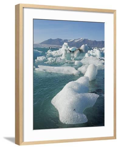 Icebergs in the Glacial Melt Water Lagoon, Jokulsarlon Breidamerkurjokull, South Area, Iceland-Neale Clarke-Framed Art Print