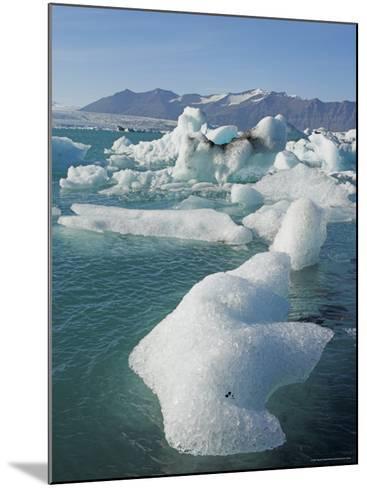 Icebergs in the Glacial Melt Water Lagoon, Jokulsarlon Breidamerkurjokull, South Area, Iceland-Neale Clarke-Mounted Photographic Print