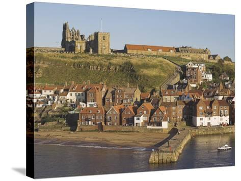 Abbey Ruins, Church, Sandy Beach and Harbour, Whitby, North Yorkshire, Yorkshire-Neale Clarke-Stretched Canvas Print