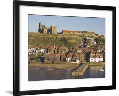 Abbey Ruins, Church, Sandy Beach and Harbour, Whitby, North Yorkshire, Yorkshire-Neale Clarke-Framed Art Print