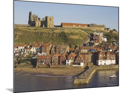 Abbey Ruins, Church, Sandy Beach and Harbour, Whitby, North Yorkshire, Yorkshire-Neale Clarke-Mounted Photographic Print
