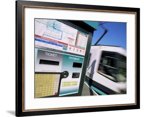 City Trams, Piccadilly Gardens, Manchester, England, United Kingdom-Neale Clarke-Framed Art Print
