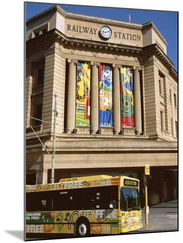 Bus Passing the Railway Station, Adelaide, South Australia, Australia-Neale Clarke-Mounted Photographic Print