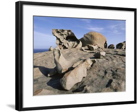 Remarkable Rocks, Flinders Chase National Park, Kangaroo Island, South Australia, Australia-Neale Clarke-Framed Art Print