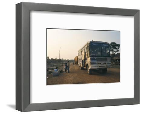 Bus Stop Near Guayaraerin, Bolivia, South America-Mark Chivers-Framed Art Print