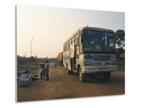 Bus Stop Near Guayaraerin, Bolivia, South America-Mark Chivers-Metal Print