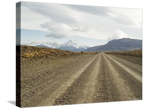 Road to El Chalten, Patagonia, Argentina, South America-Mark Chivers-Stretched Canvas Print