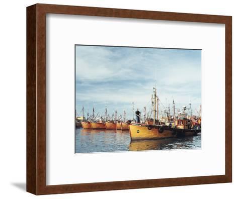 Fishing Fleet in Port, Mar Del Plata, Argentina, South America-Mark Chivers-Framed Art Print