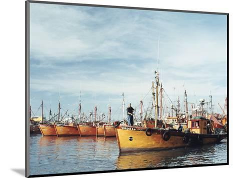Fishing Fleet in Port, Mar Del Plata, Argentina, South America-Mark Chivers-Mounted Photographic Print