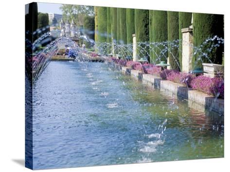 Fountains in Gardens, Cordoba, Andalucia (Andalusia), Spain-James Emmerson-Stretched Canvas Print