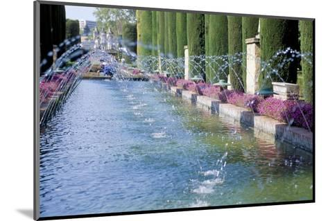 Fountains in Gardens, Cordoba, Andalucia (Andalusia), Spain-James Emmerson-Mounted Photographic Print