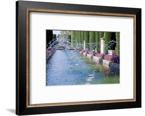 Fountains in Gardens, Cordoba, Andalucia (Andalusia), Spain-James Emmerson-Framed Art Print