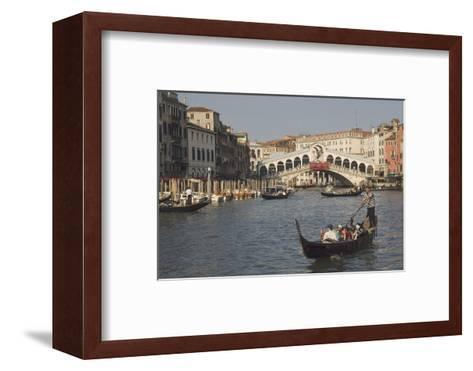 Gondolas on the Grand Canal at the Rialto Bridge, Venice, Unesco World Heritage Site, Veneto, Italy-James Emmerson-Framed Art Print