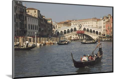 Gondolas on the Grand Canal at the Rialto Bridge, Venice, Unesco World Heritage Site, Veneto, Italy-James Emmerson-Mounted Photographic Print