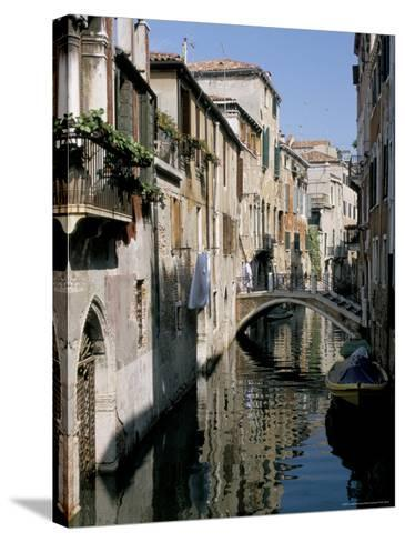Canal Scene, Venice, Veneto, Italy-James Emmerson-Stretched Canvas Print