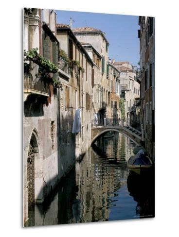 Canal Scene, Venice, Veneto, Italy-James Emmerson-Metal Print