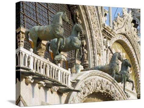 Horses on St. Marks, Venice, Veneto, Italy-James Emmerson-Stretched Canvas Print