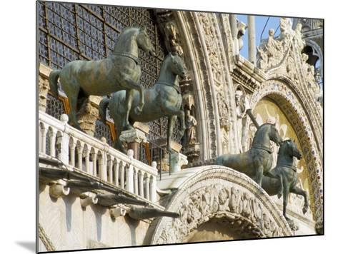 Horses on St. Marks, Venice, Veneto, Italy-James Emmerson-Mounted Photographic Print