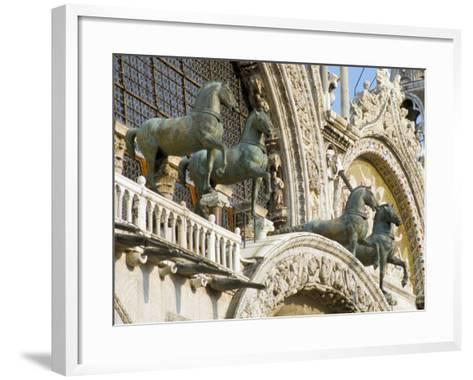 Horses on St. Marks, Venice, Veneto, Italy-James Emmerson-Framed Art Print