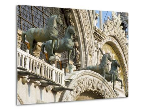 Horses on St. Marks, Venice, Veneto, Italy-James Emmerson-Metal Print