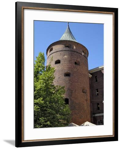 Powder Tower, Riga, Latvia, Baltic States-Gary Cook-Framed Art Print