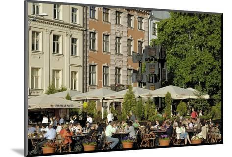 Street Cafe, Doma Square, Riga, Latvia, Baltic States-Gary Cook-Mounted Photographic Print