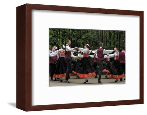 Traditional Latvian Folk Dancing, Near Riga, Baltic States-Gary Cook-Framed Art Print