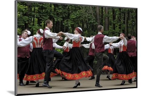 Traditional Latvian Folk Dancing, Near Riga, Baltic States-Gary Cook-Mounted Photographic Print