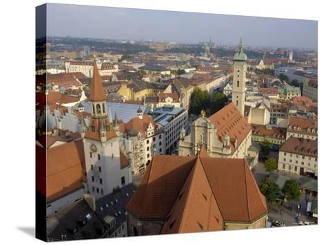 View of the City from the Tower of Peterskirche, Munich, Bavaria, Germany-Gary Cook-Stretched Canvas Print