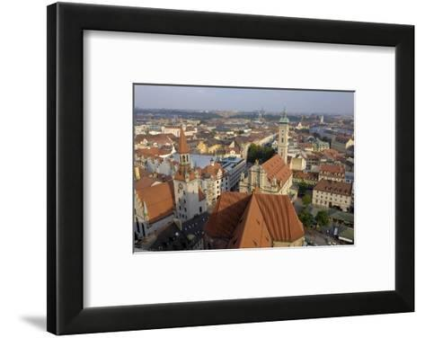 View of the City from the Tower of Peterskirche, Munich, Bavaria, Germany-Gary Cook-Framed Art Print