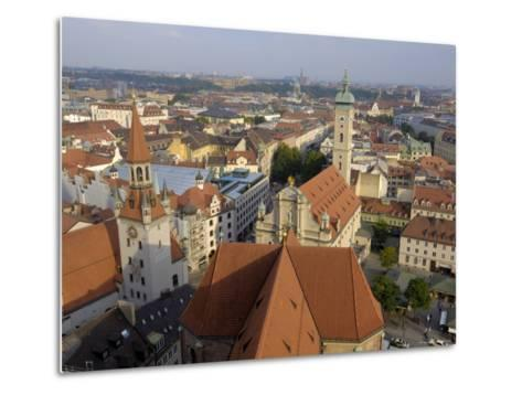 View of the City from the Tower of Peterskirche, Munich, Bavaria, Germany-Gary Cook-Metal Print