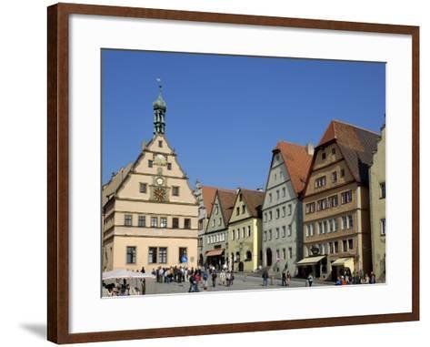 Ratstrinkstube and Town Houses, Marktplatz, Rothenburg Ob Der Tauber, Germany-Gary Cook-Framed Art Print