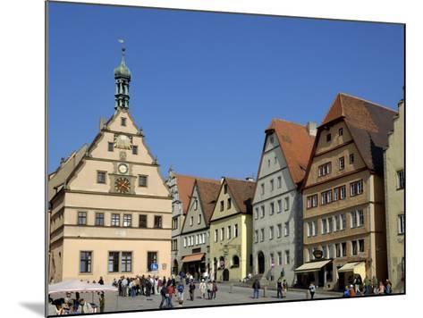 Ratstrinkstube and Town Houses, Marktplatz, Rothenburg Ob Der Tauber, Germany-Gary Cook-Mounted Photographic Print