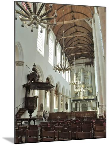 Interior, Oude Kirk (Old Church), Delft, Holland (The Netherlands)-Gary Cook-Mounted Photographic Print