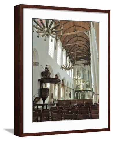 Interior, Oude Kirk (Old Church), Delft, Holland (The Netherlands)-Gary Cook-Framed Art Print
