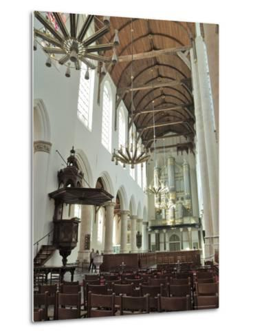 Interior, Oude Kirk (Old Church), Delft, Holland (The Netherlands)-Gary Cook-Metal Print