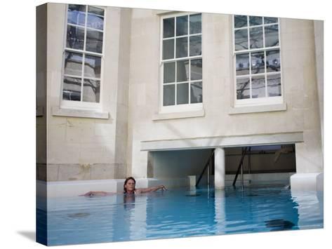 Hot Bath, Thermae Bath Spa, Bath, Avon, England, United Kingdom-Matthew Davison-Stretched Canvas Print
