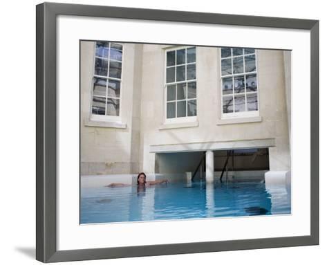 Hot Bath, Thermae Bath Spa, Bath, Avon, England, United Kingdom-Matthew Davison-Framed Art Print