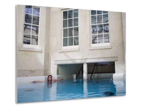 Hot Bath, Thermae Bath Spa, Bath, Avon, England, United Kingdom-Matthew Davison-Metal Print
